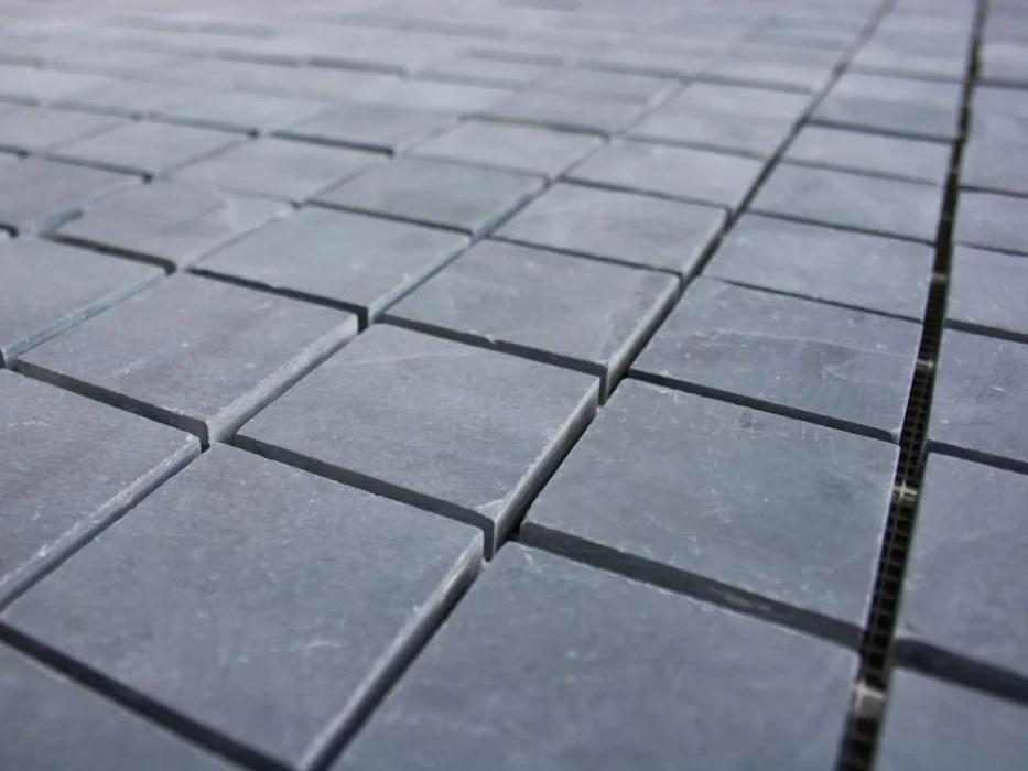 black slate mosaic tile stone tile