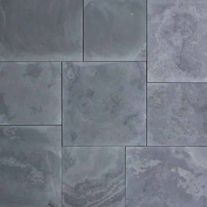 montauk black slate tile honed