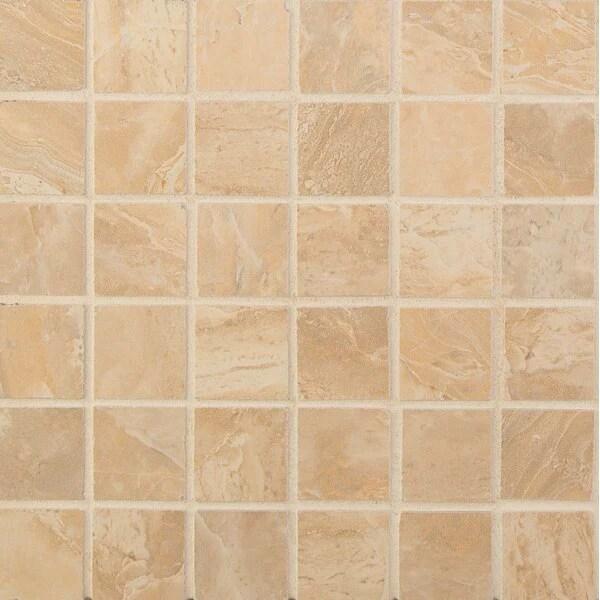 onyx sand porcelain mosaic 2 x 2