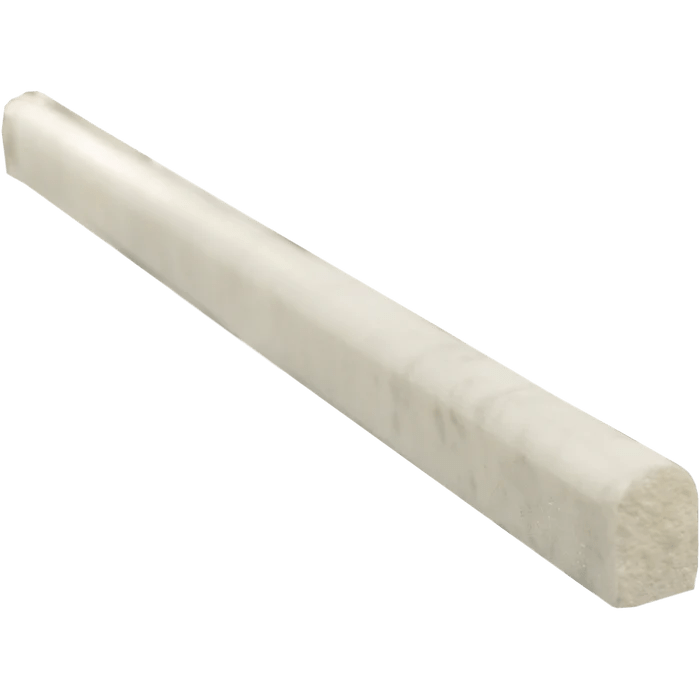 white carrara marble liner 1 2 x 12 pencil