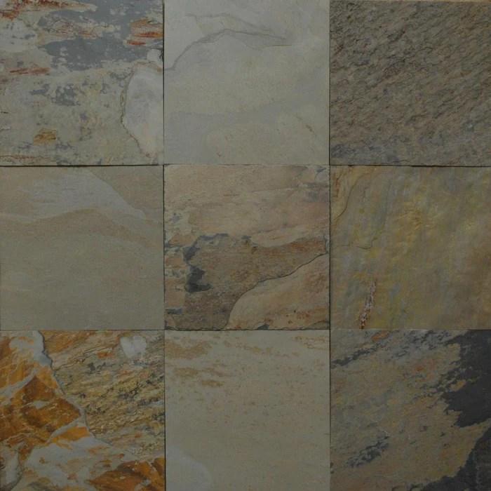 autumn slate tile natural cleft face back
