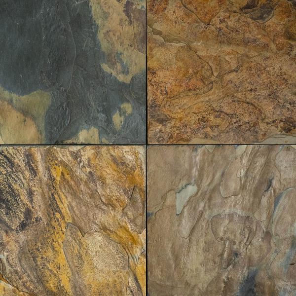 full tile sample california gold slate tile 24 x 24 x 1 2 natural cleft face gauged back