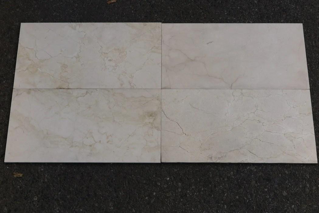 crema marfil standard honed marble tile