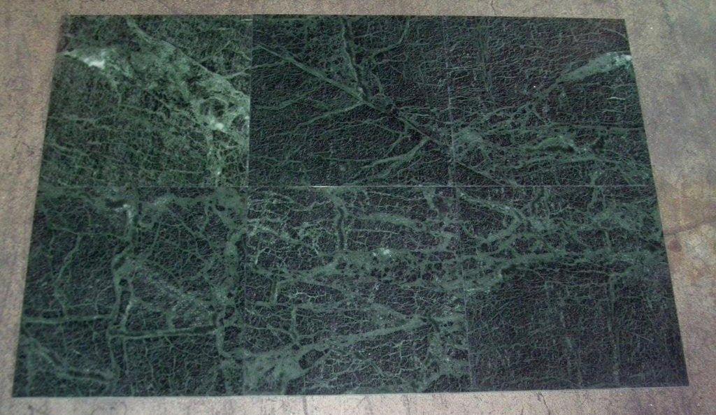 dark green marble tile polished