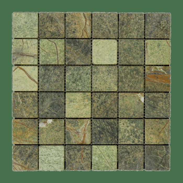 rain forest green marble mosaic 2 x 2