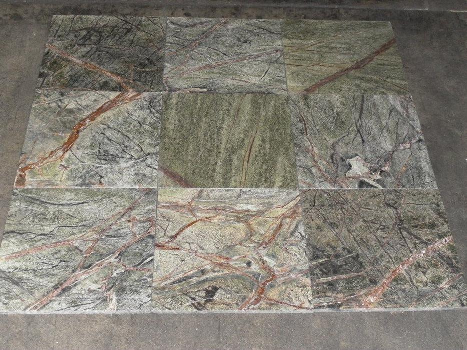 rain forest green marble tile