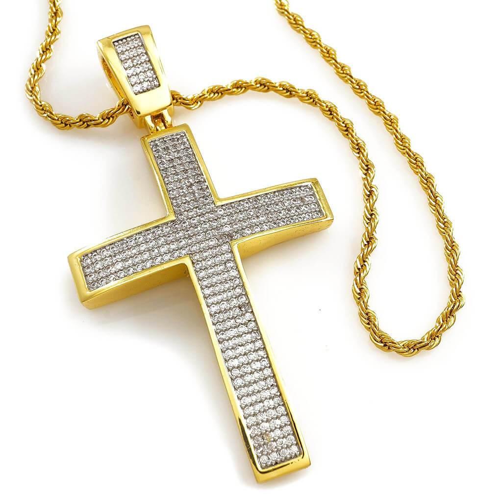 18k gold jesus cross
