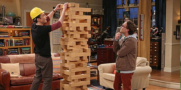 Giant Tumble Tower played on The Big Bang Theory  Tossocom