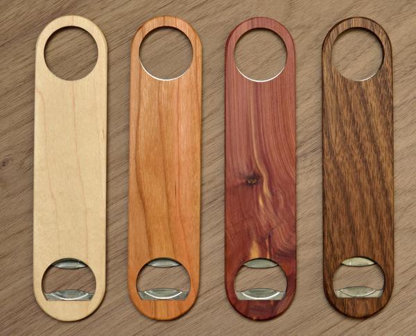 solid wood bottle opener