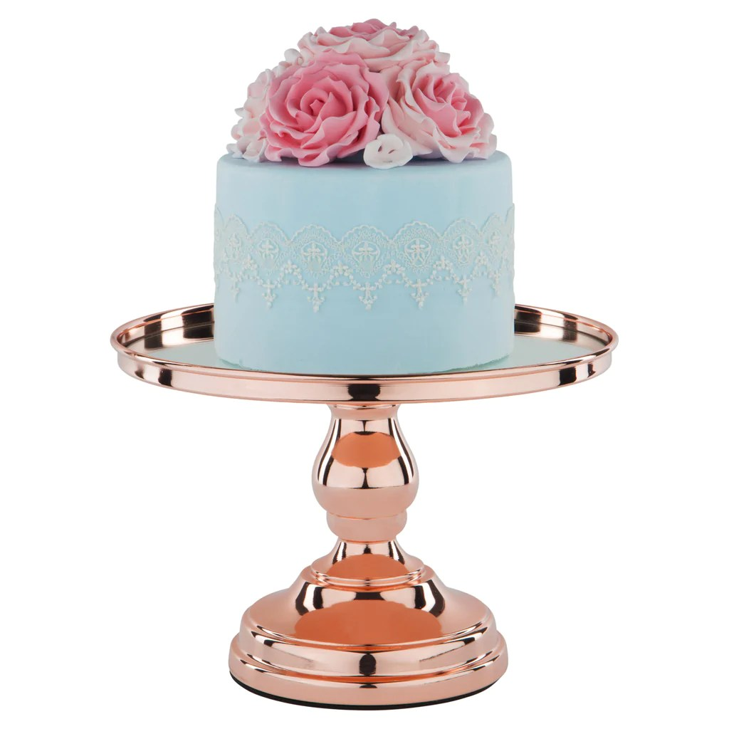 10 Rose Gold Plated Modern Mirror Wedding Cake Stand Imgurl