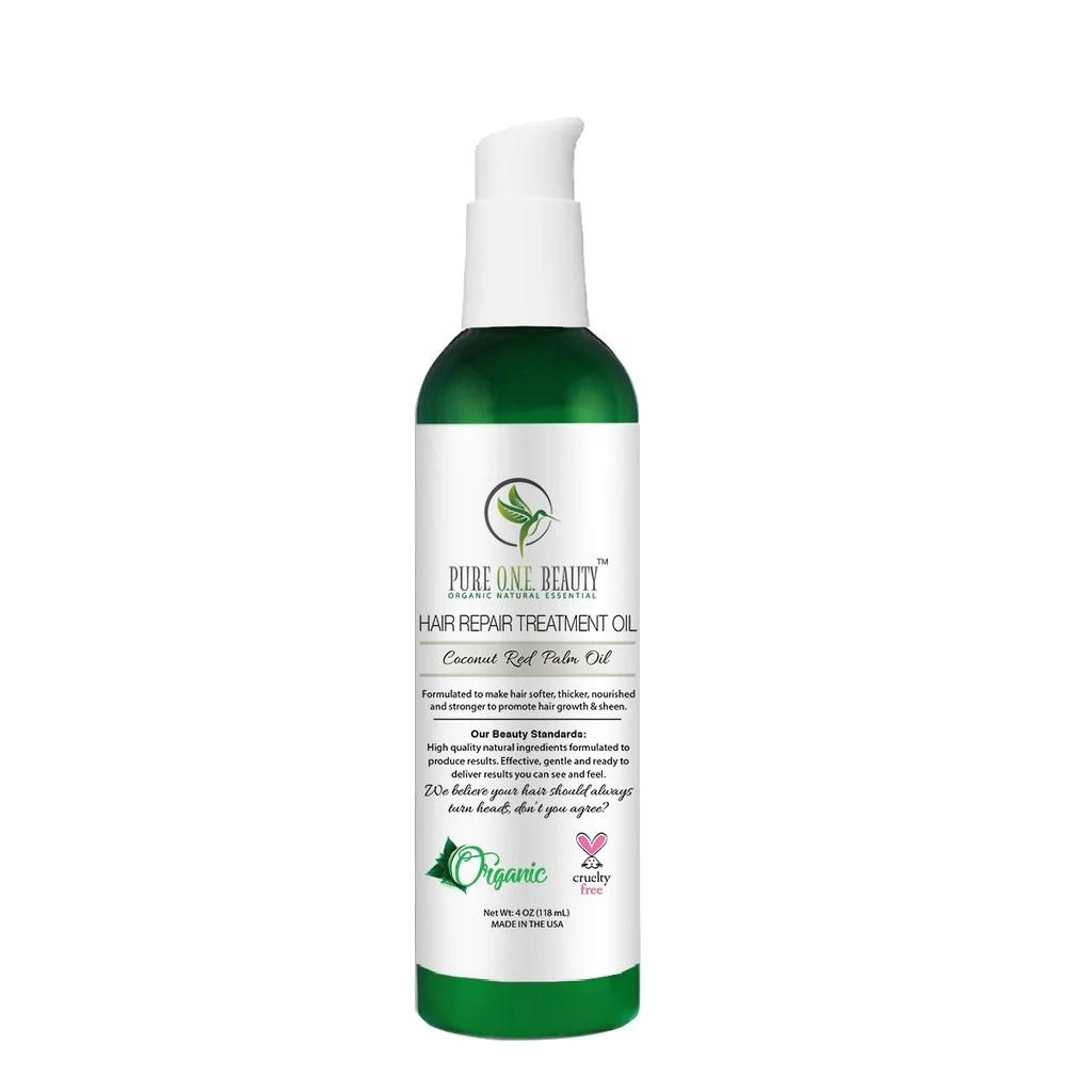 coconut red palm oil hair repair