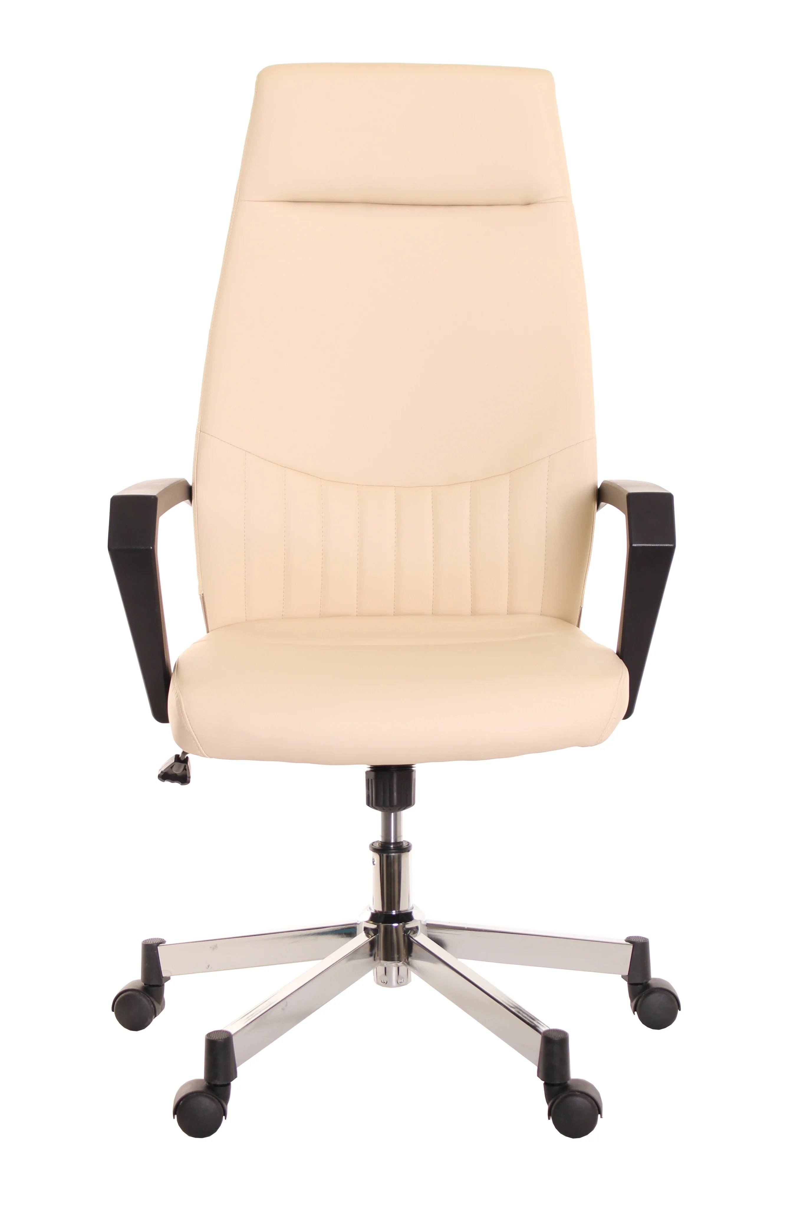 ivory leather office chair vibrating baby bouncer high back task ergonomic by timeoffice
