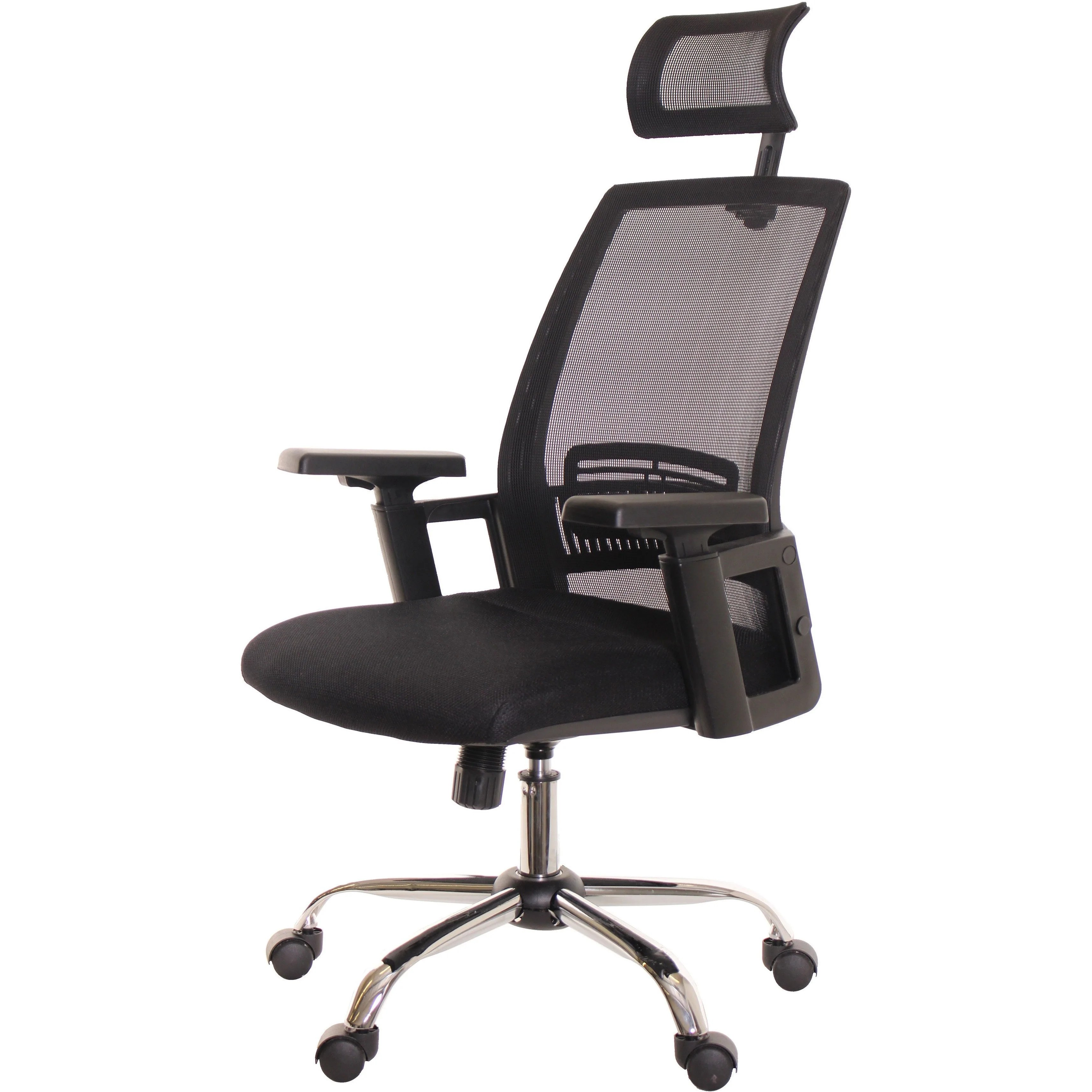 workpro commercial mesh back executive chair black leather swivel recliner chairs ergonomic office with headrest intey