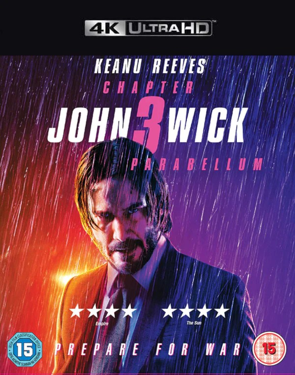 John Wick Chapter 3 Parabellum VUDU 4K - HD MOVIE CODES