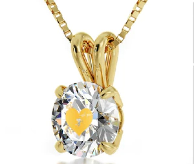 What To Get Your Girlfriend For Valentines Day Cute Necklace With White Cz Charm