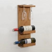Woodymood Decorative Wine Rack Glass Holder-Natural ...