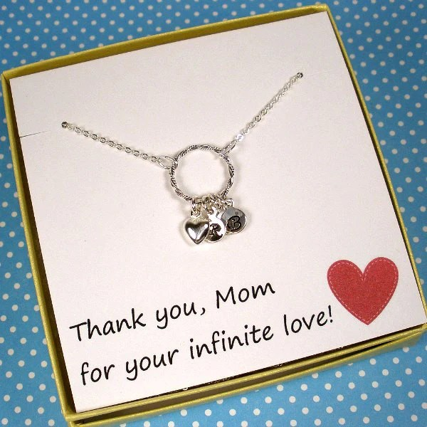 Personalized Mom Gift Children S Initial Necklace