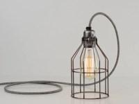 Desk Lamp   Premium Bird Cage   Raw Steel  Vendimia ...