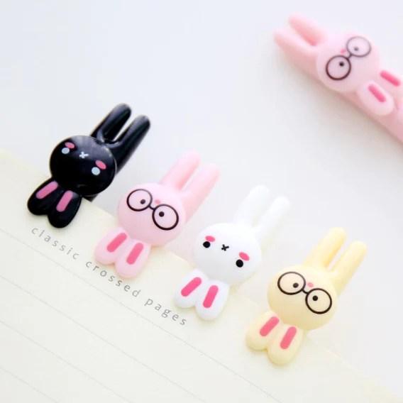 Kawaii Cartoon Rabbit Gel Pen 4pack  Kawaii Pen Shop