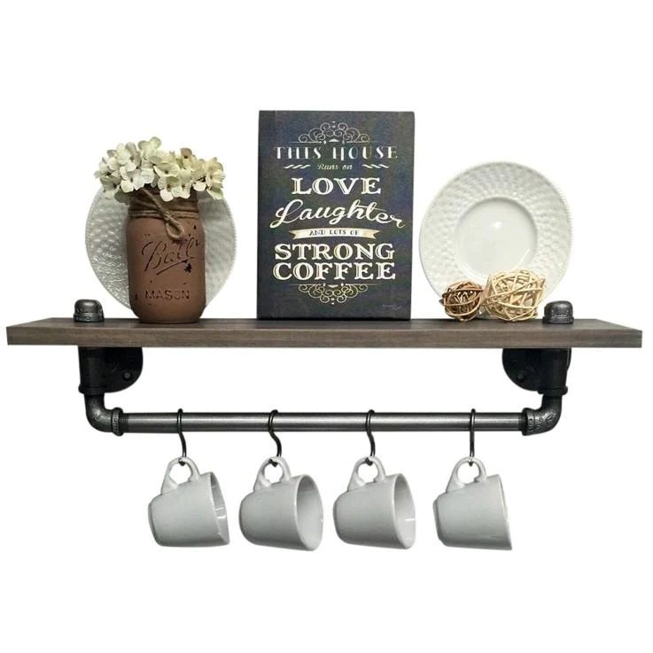 kitchen shelf wrought iron chairs industrial shelves