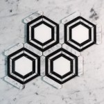 Carrara Nero Thassos Trilogy Hexagon Designer Marble