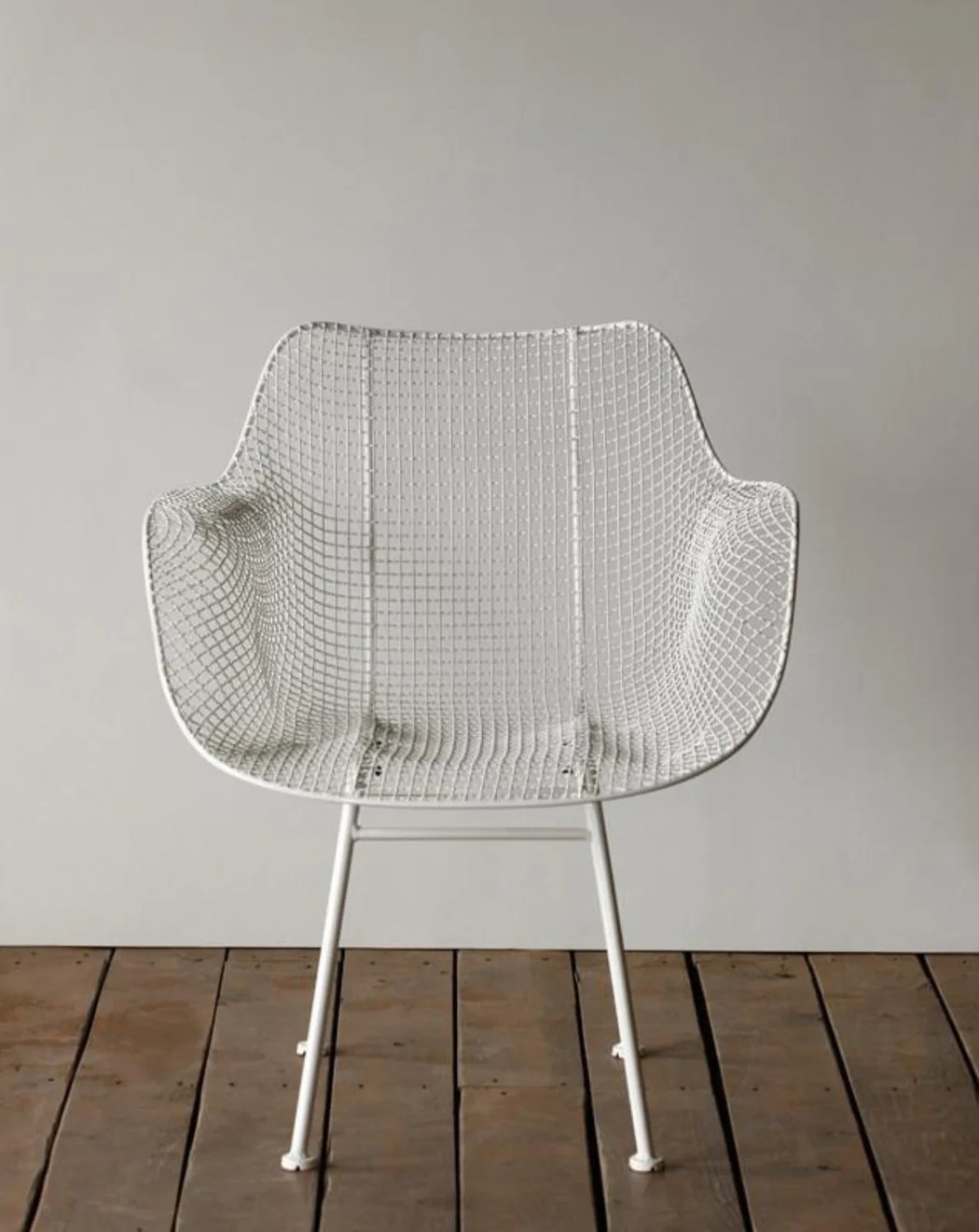 white wire chair turquoise arm biscayne armchair  lostine