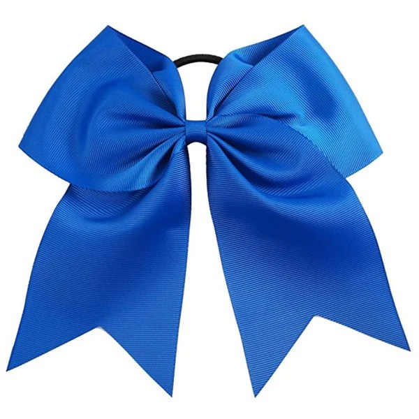 cheer hair bow large with ponytail