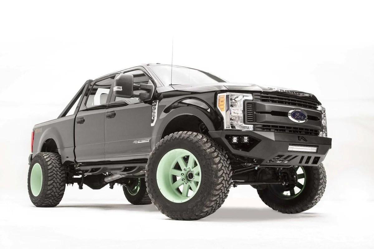 fab fours vengeance front bumper ford f250 f350 superduty fs17 v4151 1 2017 [ 1200 x 797 Pixel ]