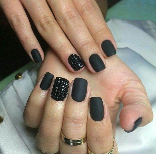 bk matte black nail polish sugar