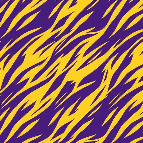 Purple and Gold Tiger Stripes LSU Louisiana Printed Craft