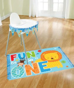 high chair floor mat nz french country dining covers one wild boy decorations kit partymania