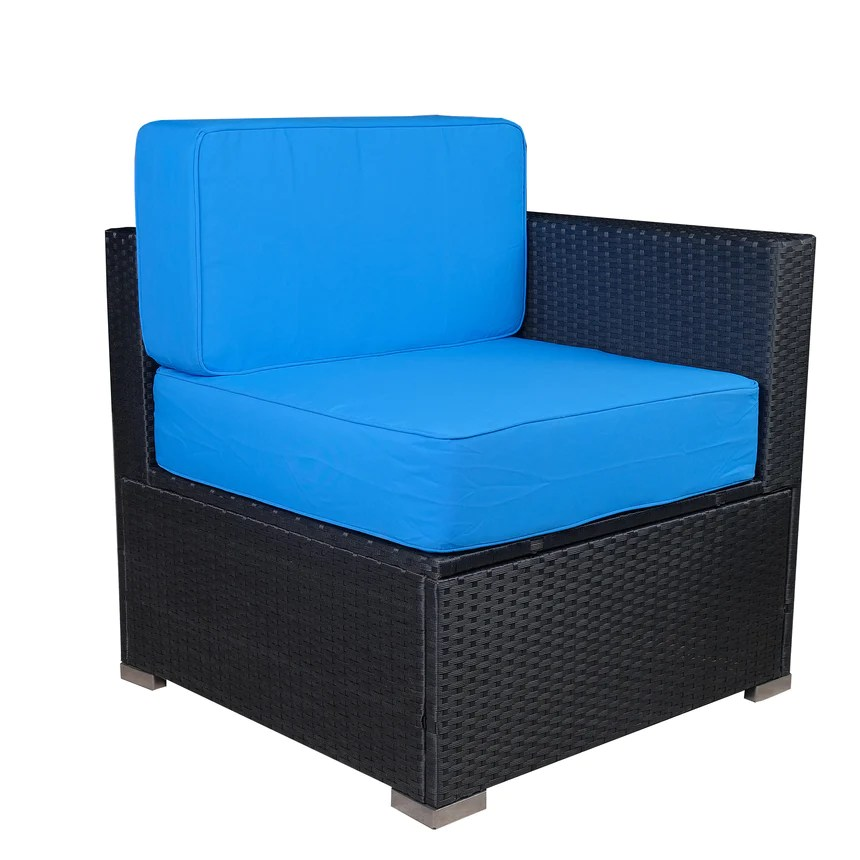 mcombo outdoor patio black wicker furniture sectional set all weather resin rattan chair modular sofas with water resistant cushion covers
