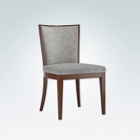chair design restaurant folding pool lounge chairs dining lugo adele grey cushioned with brown show wood se01 rc1