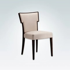 Chair Design Restaurant Transport Wheelchair Used Dining Chairs Lugo Alaska Cream Upholstered Hammer Back With Dark Show Wood Edging Running Down Into