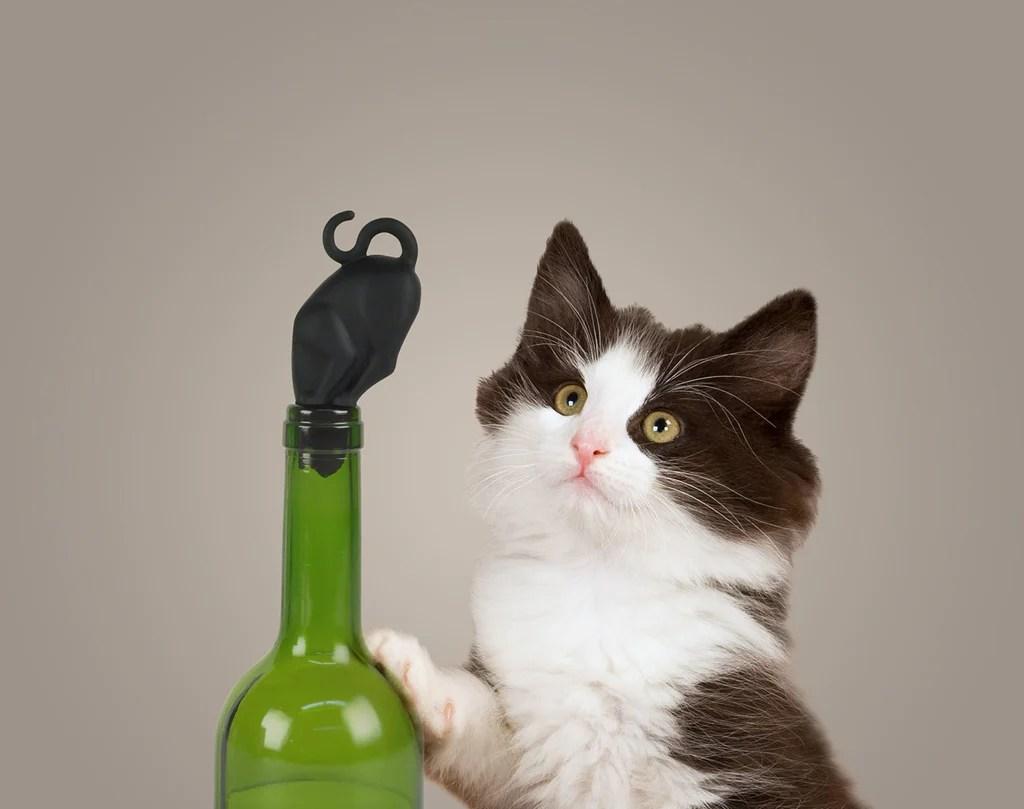 Kitty Black Cat Wine Stopper Good Company