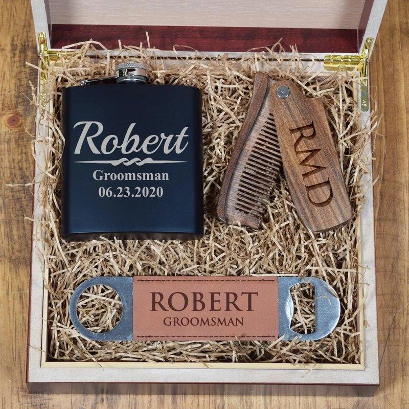 personalized classic wooden comb