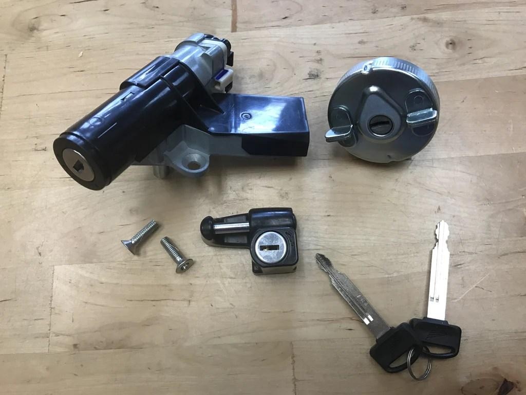 hight resolution of honda ruckus key ignition and helmet lock set