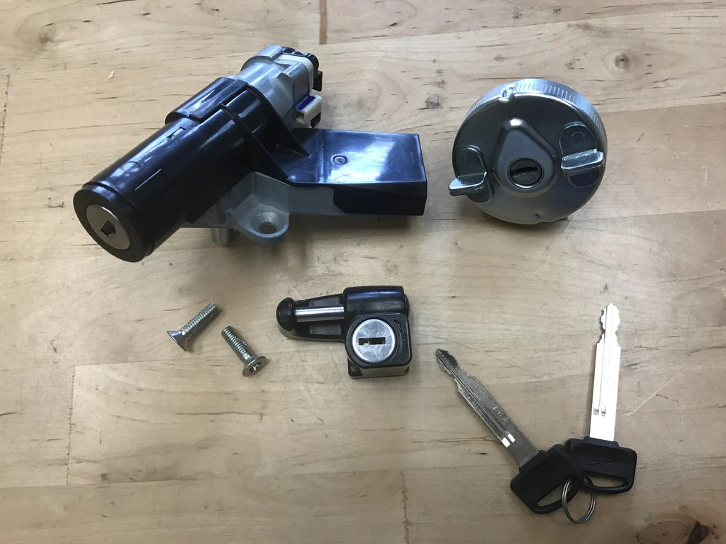 small resolution of honda ruckus key ignition and helmet lock set