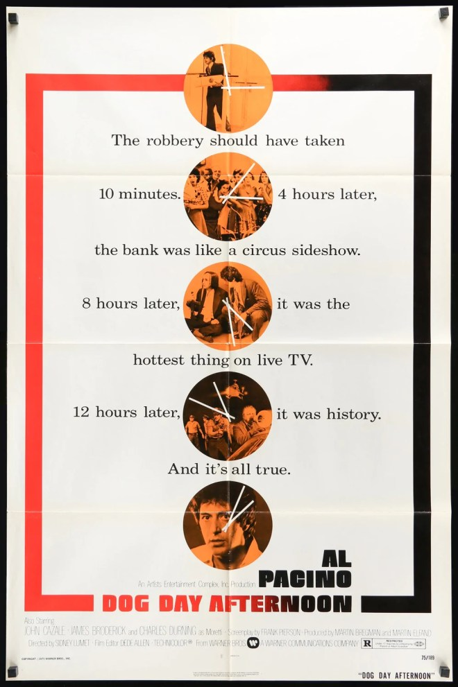 Dog Day Afternoon (1975) Original One-Sheet Movie Poster - Original Film  Art - Vintage Movie Posters