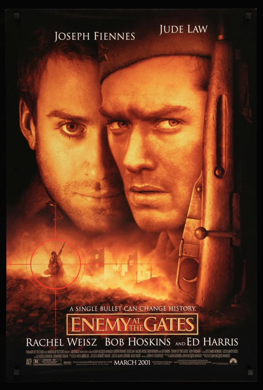 Image result for enemy at the gates movie poster