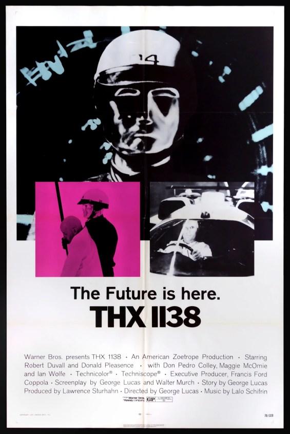 THX 1138 (1971) Original One Sheet Movie Poster - Original Film Art -  Vintage Movie Posters