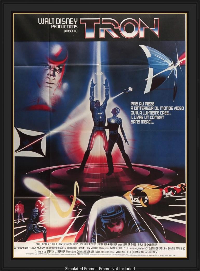 Tron (1982) Original French Movie Poster - Original Film Art - Vintage  Movie Posters