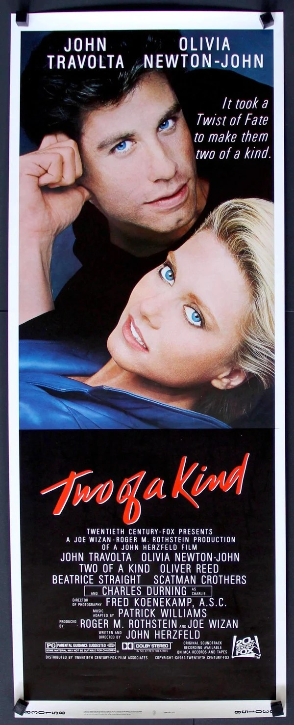 Two of a Kind (1983) Original Insert Movie Poster - 14