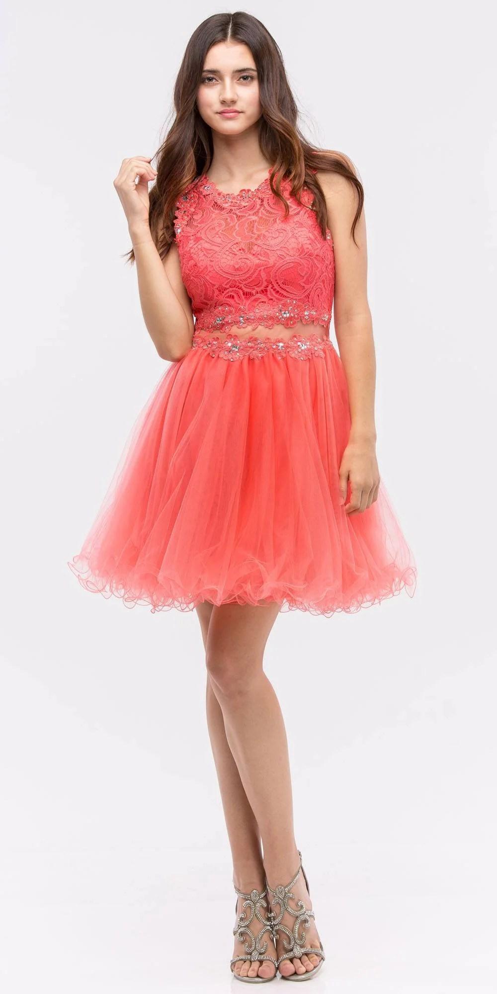 Short Poofy Prom Dresses 2 Piece Burgundy