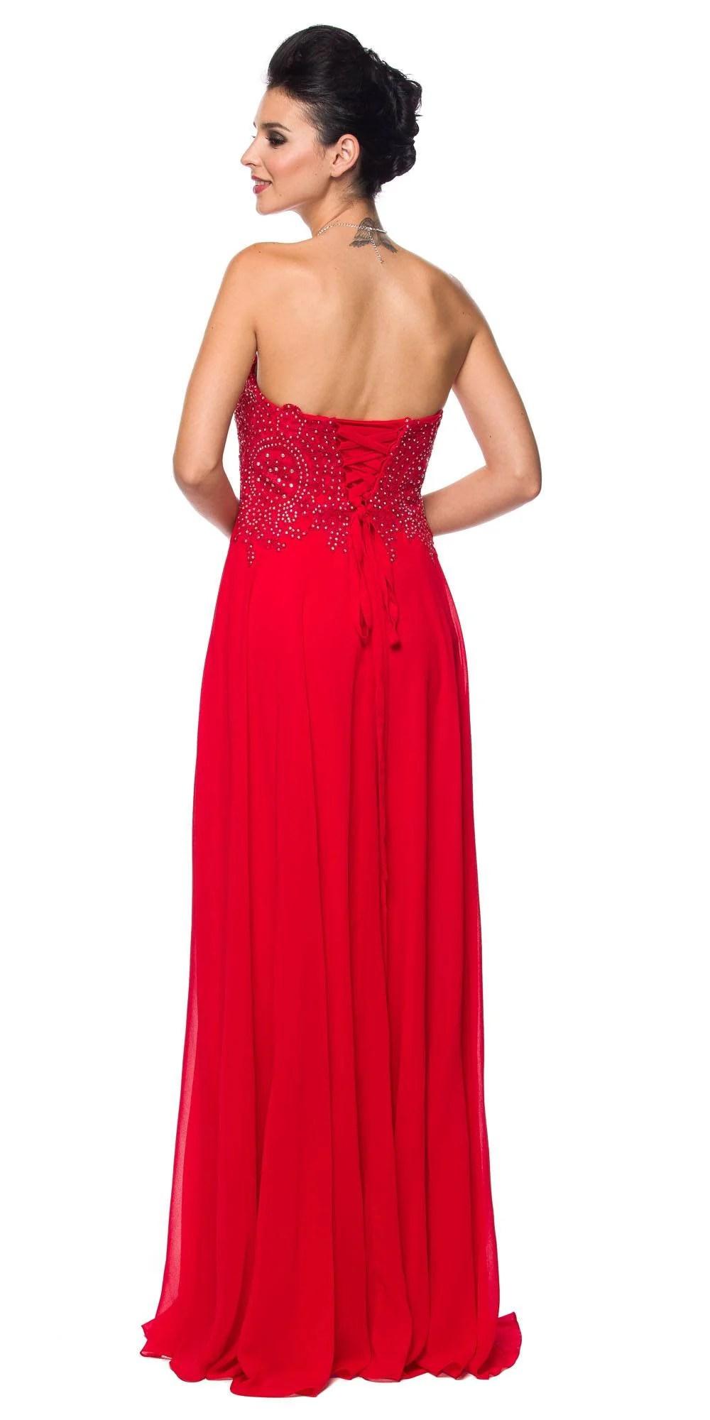 Juliet 626 Strapless -line Formal Dress Appliqued Bodice