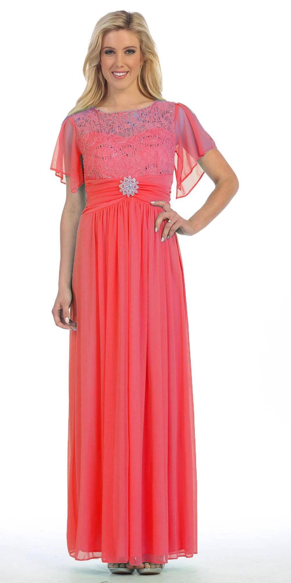 Lace Long Sleeve Semi Formal Dresses