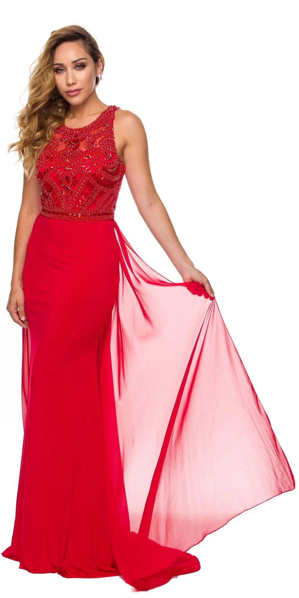 Fitted Bodice Prom Dress