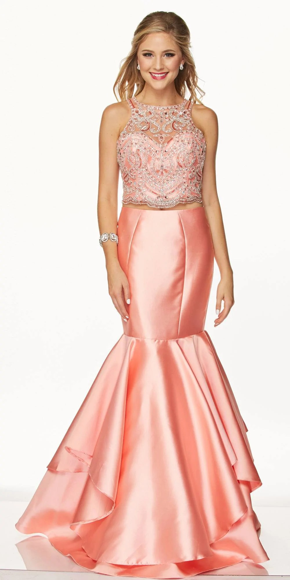 Two Piece Prom Dresses Mermaid Style