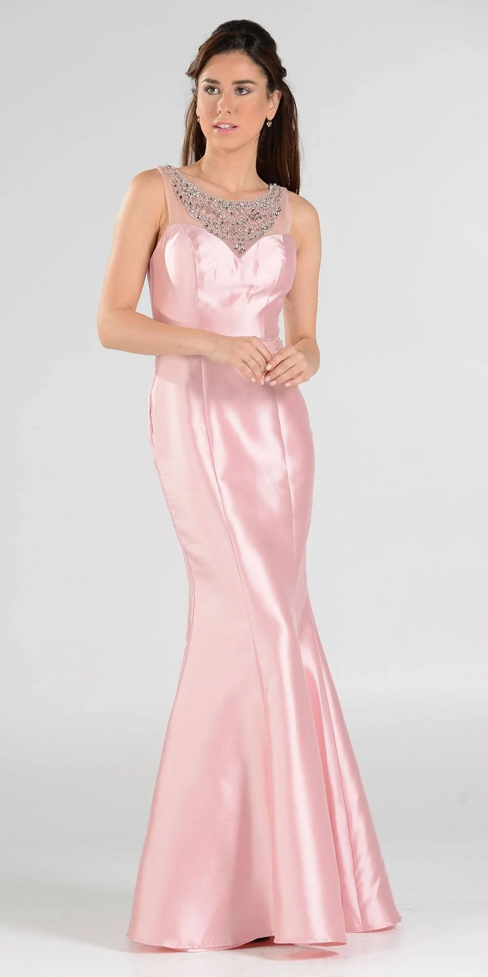 Long Mermaid Prom Dress