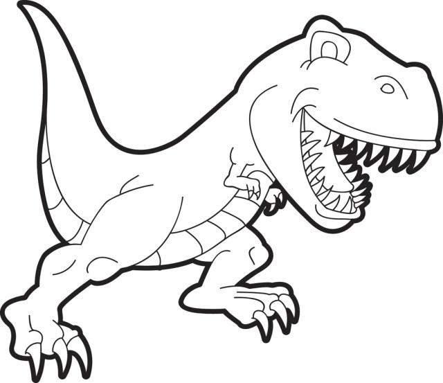 T-Rex Dinosaur Coloring Page #23